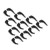 DN 5 Pairs Black Sport Eyeglass Ear Hook Eyewear Glasses Silicone Anti Slip Grip Holder Super Soft Comfortable