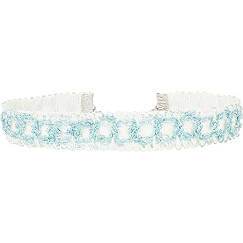 Twilight's Fancy Aqua Light Blue Woven Ribbon Choker Necklace (Atm Ribbons)