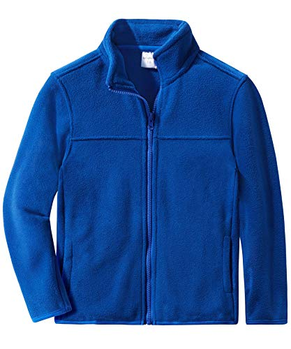 Royal Blue Kids Jacket - Spring&Gege Youth Solid Full-Zip Polar Fleece Jacket for Boys and Girls Size 11-12 Years Royal Blue