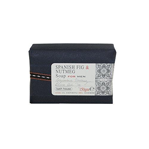 The Bath House Spanish Fig & Nutmeg Soap for Men, 5.0 Fluid Ounce ()