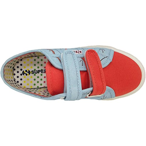 Superga 2750 Fantasy Covj S001W80 Pink F11 Kinder Sneaker azurblau/rot (sea azure)