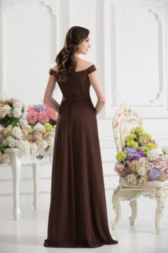 AusserSchulter BRIDE Schokolade Boden Formelle Abendkleid GEORGE Laenge p6EUE