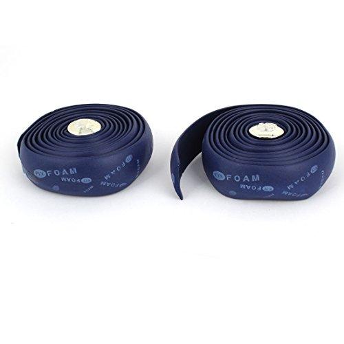 uxcell  バイクハンドルバーテープ ラップテープ ロードバイク向き ブルー プラスチック製 2点入り