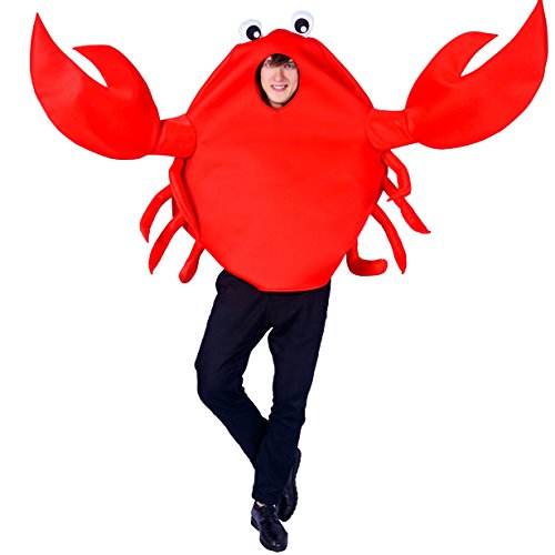 flatwhite Adult Unisex King Crab Costume,Red,One Size -