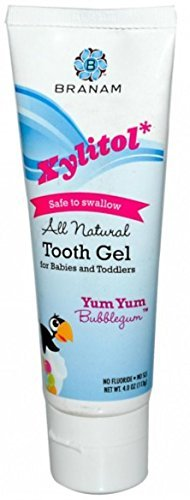 Branam Oral Health Xylitol Tooth Gel for Babies & Toddlers, Yum Yum Bubblegum, 4 oz (Pack of 5)