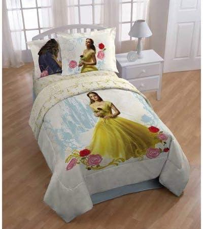 Amazon Com Beauty And The Beast My Romantic Kids Twin Polyester Reversible Comforter W Bonus Sham Home Kitchen