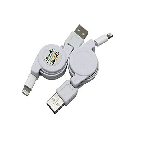 Price comparison product image Vanki MFI Certified and Tested Retractable Lightning Cable to USB Apple iPhone 5 5s 5c 6 6 Plus iPod 7 iPad Mini iPad 4 iPad Air 3ft/1m Also Support IOS 8.1 Good as Travel And Car Cable