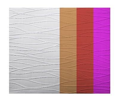 York Wallcoverings Patent Decor PT9418 Tidal Swell Paintable Textured Wallpaper Dado, White