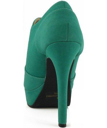 Womens Platform High Heel Peep Toe Ankle Boot Bootie Pumps Boots