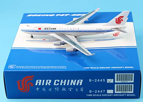 747 400 Range - JC Wings 1:400 XX4059 Air China Boeing 747-400 Diecast Aircraft Model Reg#B-2445