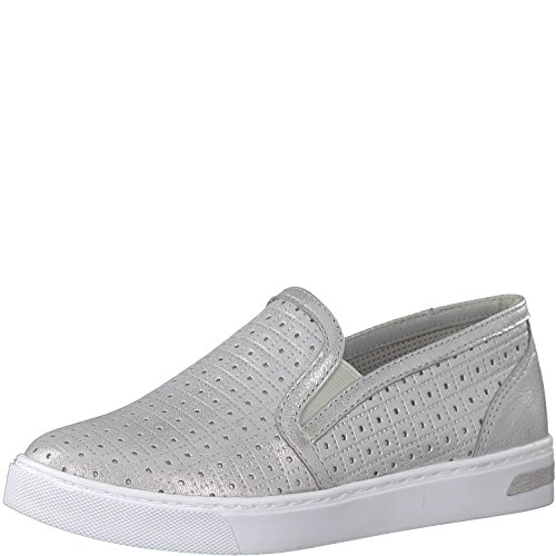 24640 191 Ladies 8 Slipper Natural White Jana Weiß Silver 20 Be nO07W4ApX