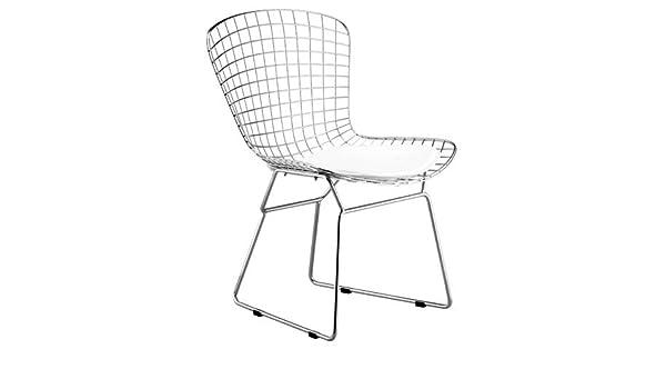 2x Silla BERT-CBL, cojín blanco (Pack de 2 unidades): Amazon ...