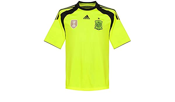 adidas Camiseta Portero Selección 2014 Electricity-Negra: Amazon ...