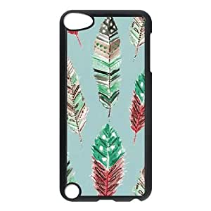 Feathers iPod Touch 5 Case Black DIY Gift xxy002_5197853