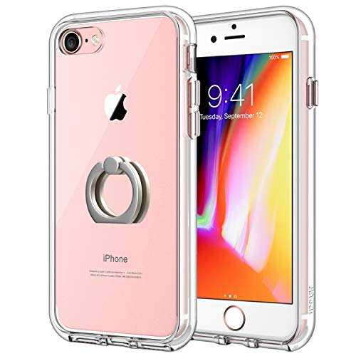 JETech Case for Apple iPhone 7 and iPhone 8, Ring Holder Kickstand, Shock-Absorption Bumper Cover, HD Clear