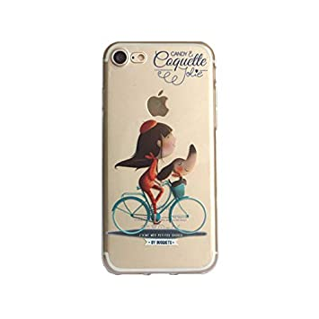 f7c1c02552b Coquette CQFM014 - Funda TPU con diseño Bicicleta para Apple iPhone 8/7,  Transparente: Amazon.es: Electrónica