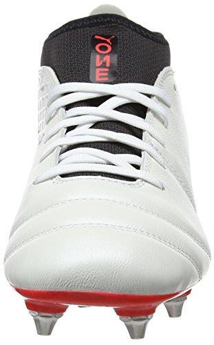 Rouge Puma black de Blanc 17 One 0 MX EU Homme Chaussures Blanc Corail Football Noir fiery White Coral 2 SG RRPYnrT