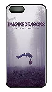 iPhone 5 Case, iPhone 5S Cases - Scratch-Resistant Hard Case Cover for iPhone 5/5s Imagine Dragons Continued Silence Perfect Fit Black Hard Back Case Bumper for iPhone 5/5S
