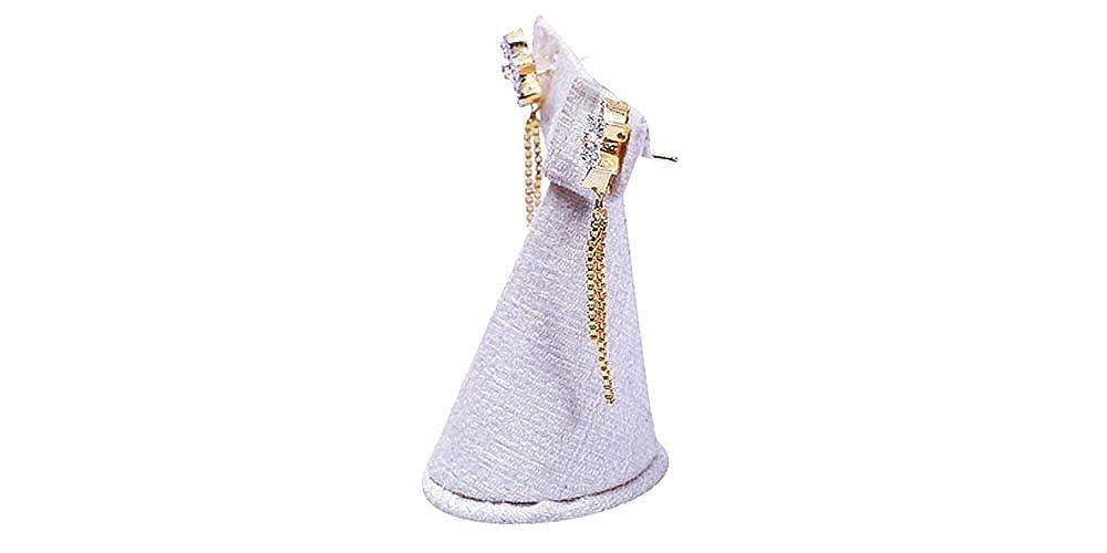 Girls Terramart/_ Earring Set/_Fashion Jewellery for Women White, Pink /& Gold