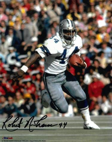 Robert Newhouse Signed Photograph - 8x10#44 white jersey) - Autographed NFL Photos