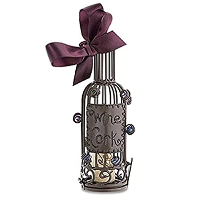 Epic 02-131 Beautiful Unique Wine Bottle Cork Cage Holder Ornament with Satin Bow