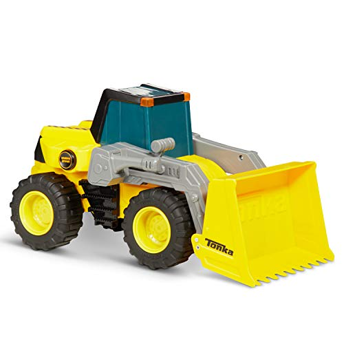 (Tonka 8046 Power Movers Front Loader Toy Vehicle, Yellow)