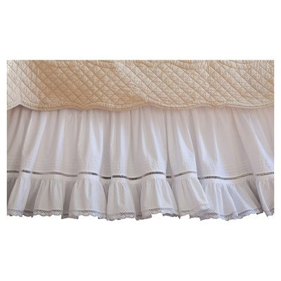 Prairie Crochet Cotton Bed Skirt Size: Queen