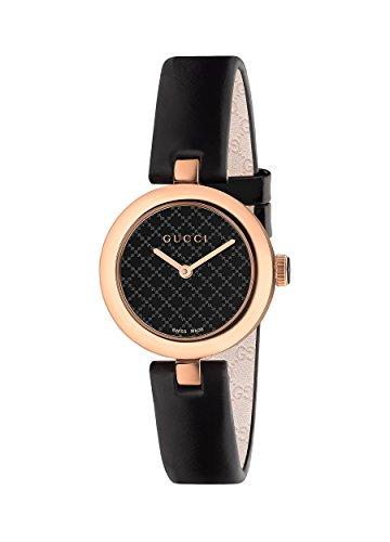Gucci Women's Ya141501 Diamantissima Analog Display Swiss Quartz Black Watch