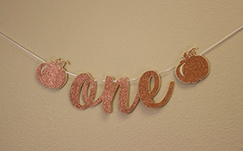 All About Details Copper Pumpkin Theme One High Chair Cursive Banner (Chair Pumpkin)