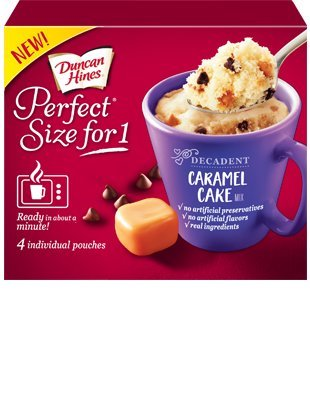 Duncan Hines Perfect Size For 1 Cake Mix (Caramel Cake) (Mix Caramel Cake Duncan Hines)