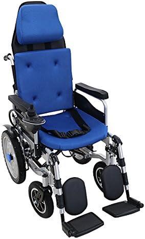 フルリクライニング電動車椅子 青 TAISコード取得済 折りたたみ ノーパンクタイヤ 自走介助兼用 リクライニング電動車椅子 電動 手動 充電 電動ユニット 電動アシスト 電動カート 折り畳み 車椅子 車イス 車いす リクライニング 介護 福祉 電動車いす ブルー ewheelchaire05blue
