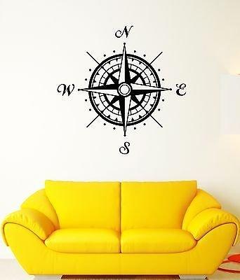 Wall Decal Compass Cardinal Points Orientation Landmark V...