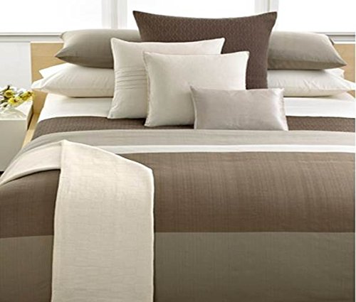 Calvin Klein Laguna Rib Plateau High Loft King Size Comforter with Earth Tones 107