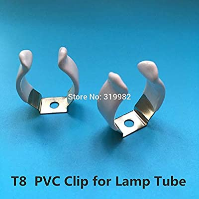 Kamas 30 PCS T5 T8 T10 PVC Plastic Metal U Clip Wedge Tube Lamp Base Holder Steel with White Cover Surface for LED Fluorescent Light - (Color: T5 PVC) : Garden & Outdoor