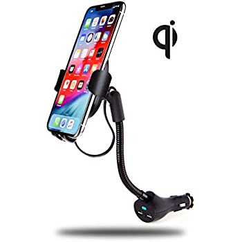 Amazon Com Rattlesnake Coil Phone Holder Charger Compatible To Apple Iphone Lightning Cable Adjustable Arm Removable Mount For Desk Table