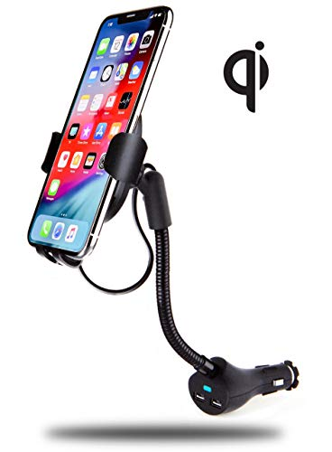 - INFORMA Wireless Car Charger Mount, w/Built-in USB Cable, mounts in Power Outlet, Qi Car Wireless Charger Provides 7.5w for iPhone Xs/Xs Max/XR/X/8/8 Plus or 10w Samsung Galaxy S10/S10+/S9/S9+/S8/S8+