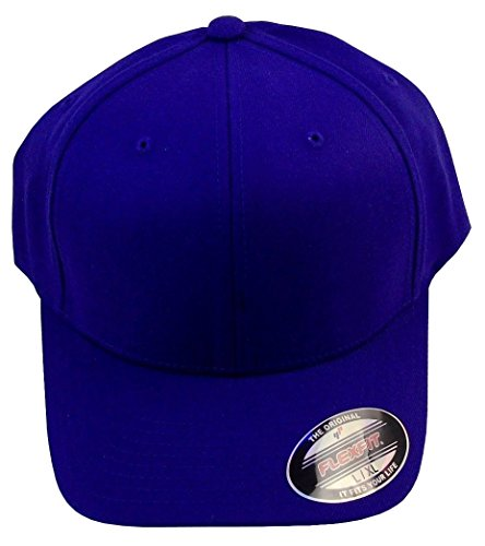 6477 Flexfit Wool Blend Cap - Large/X-Large - Acrylic Purple Spandex