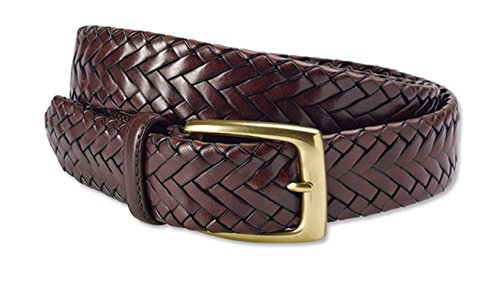 [Orvis Men's Tubular Latigo Braid Belt, Brown, 46] (Orvis Braided Belt)