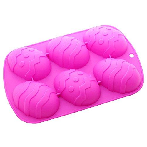 Nikgic 6 Cavity Creative resurrection egg shape cake molds for Easter -