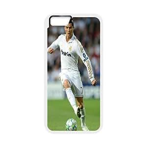 Bloomingbluerose Cristiano Ronaldo1 IPhone 6S Cases Cristiano Ronaldo with Football, {White}