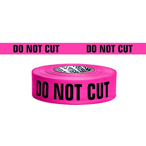 (Presco Printed Roll Flagging Tape: 1-1/2 in. x 50 yds. (Neon Pink with Black