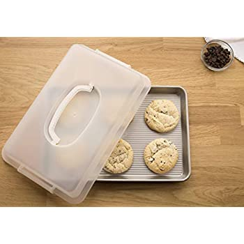 USA Pan 1040JRLD-ST Bakeware Nonstick, Jelly Roll Pan with Lid