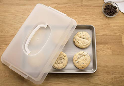 USA Pan 1040JRLD-ST Bakeware Nonstick Jelly Roll Pan With Lid ()
