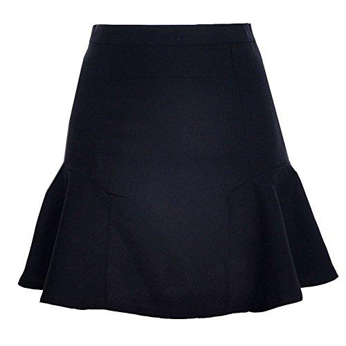 de Jupe Jupes Femmes Ajoure Cocktail Soire Plage Couleur de Haute Unie Fte Taille Mini Noir Mode xxpqwO4