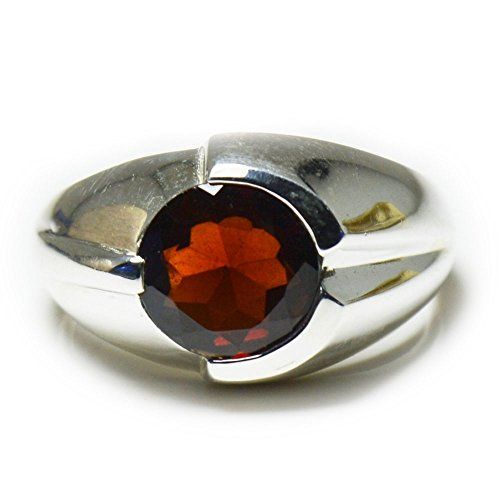 55Carat Garnet Ring Genuine Natural Gemsstone 925 Sterling Silver Ring US 4-12 For Men