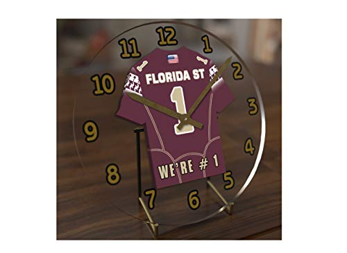 College Football USA - We're Number ONE American Football Desktop/Table Clocks - Support Your Team !!! (Florida State Seminoles)