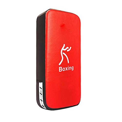TigerBoss One Karate Taekwondo Boxing Kick Punch Adjustable Soft Shield Durable Training Pad for Boxing,Training and Protecting Your Palm,Wrist and Decreasing The Shock(Red)