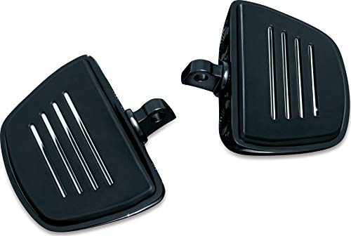 (Kuryakyn 7578 Motorcycle Foot Control Component: Premium Mini Board Floorboards with Male Mount Adapters, Gloss Black, 1 Pair)