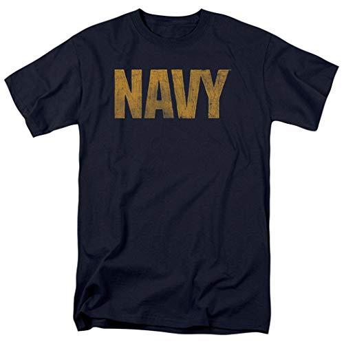 Distressed Emblem T-shirt - Popfunk U.S. Navy Distressed Logo T Shirt (XXXX-Large)