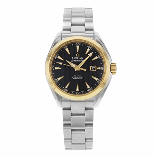 Omega Seamaster Aqua Terra 34mm 18K Gold Steel Automatic Watch 231.20.34.20.01.004 (Certified (Omega Seamaster Aqua Terra Ladies)